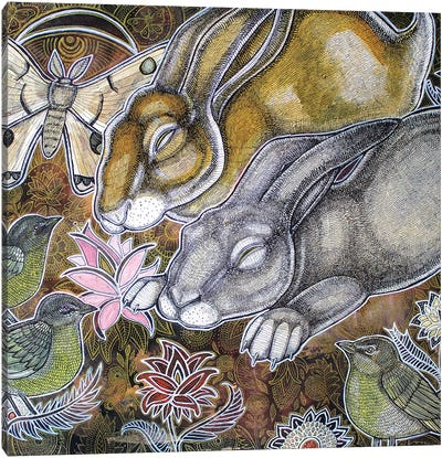 Dreaming Rabbits Canvas Art Print