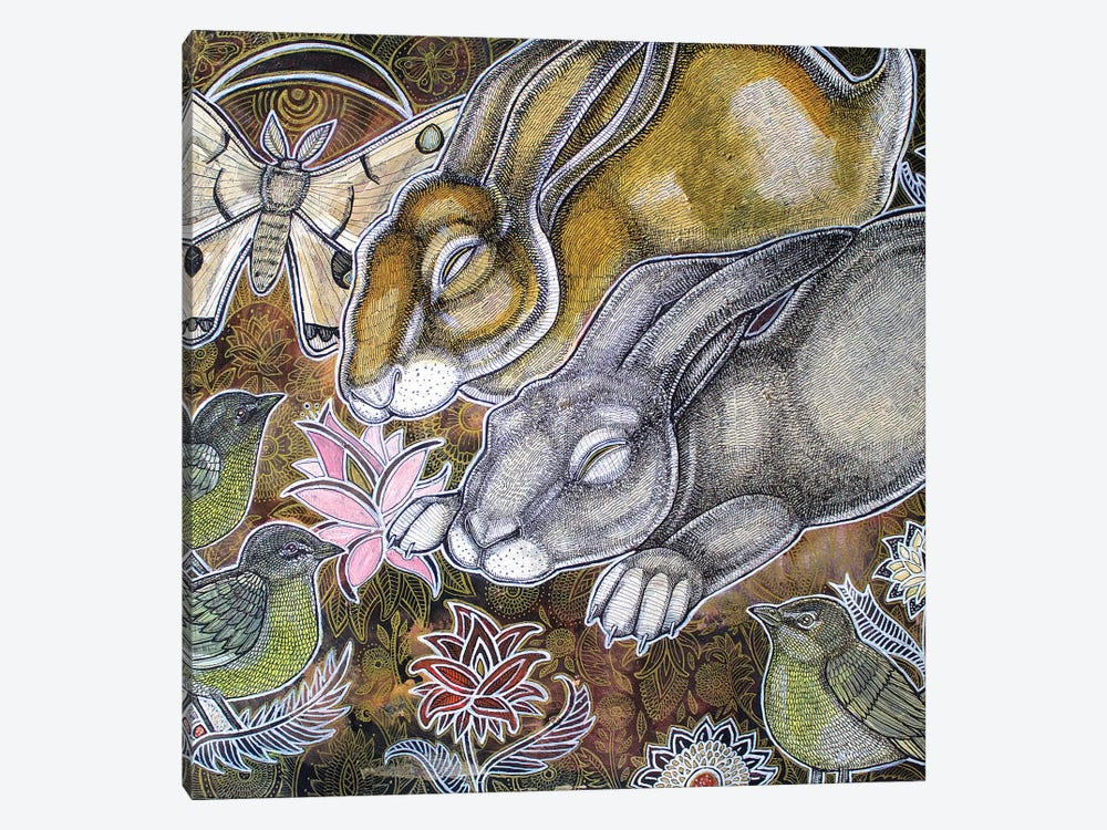 Dreaming Rabbits by Lynnette Shelley 1-piece Canvas Artwork