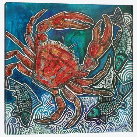 Feeling Crabby Canvas Print #LSH280} by Lynnette Shelley Canvas Print