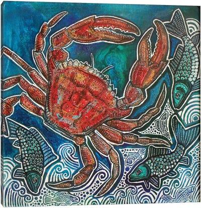 Feeling Crabby Canvas Art Print
