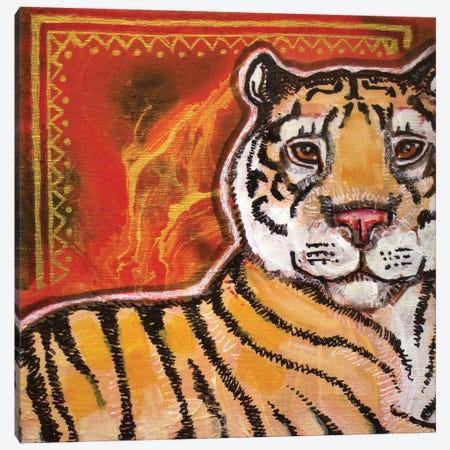 Tiger Canvas Print #LSH288} by Lynnette Shelley Art Print