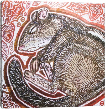 Chipmunk Canvas Art Print