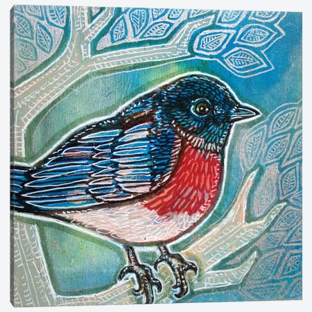Bluebird Of Happiness 3-Piece Canvas #LSH292} by Lynnette Shelley Canvas Artwork