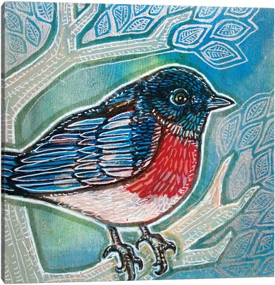 Bluebird Of Happiness Canvas Art Print