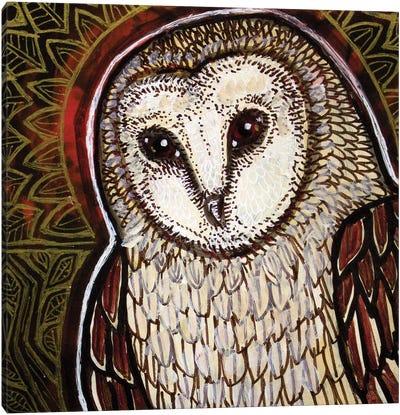 Moonlight Visitor Canvas Art Print