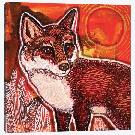 Autumn Fox Canvas Print #LSH297} by Lynnette Shelley Canvas Art Print