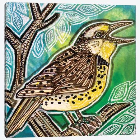 Meadowlark Singing Canvas Print #LSH300} by Lynnette Shelley Canvas Art