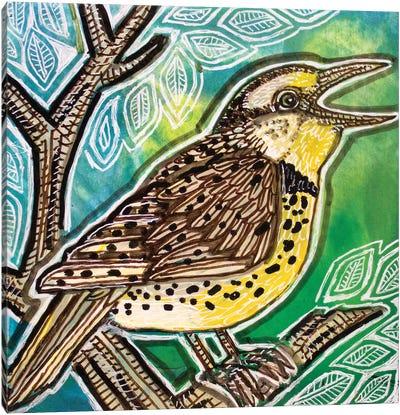 Meadowlark Singing Canvas Art Print