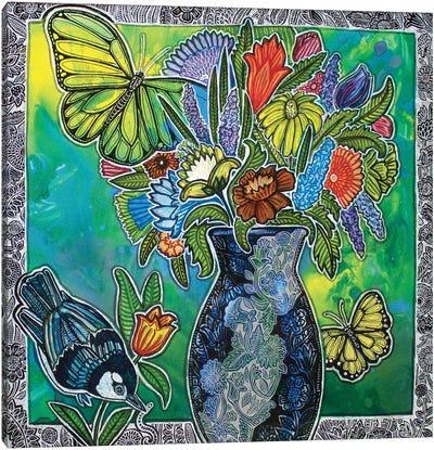 From The Garden Canvas Art Print