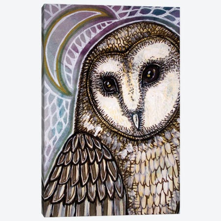 Crescent Moon And Owl Canvas Print #LSH302} by Lynnette Shelley Canvas Art
