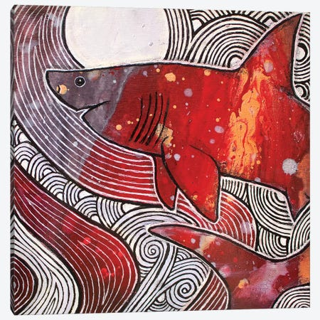 Fathomless Canvas Print #LSH30} by Lynnette Shelley Canvas Artwork