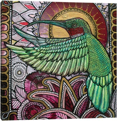 Flight Of The Hummingbird Canvas Art Print