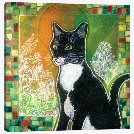 Stabatha (Art for a Stray Cat) Canvas Print #LSH342} by Lynnette Shelley Canvas Art