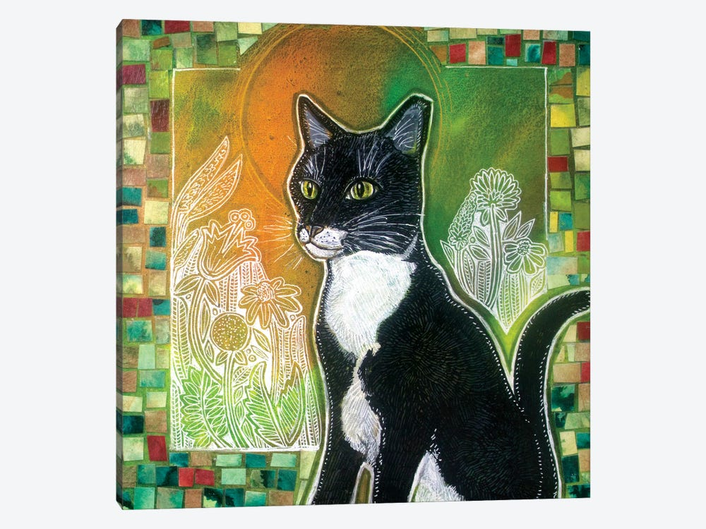 Stabatha (Art for a Stray Cat) by Lynnette Shelley 1-piece Canvas Print