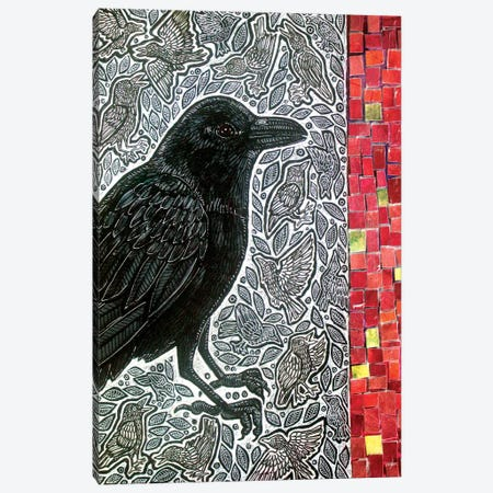 Counting Crows Canvas Print #LSH349} by Lynnette Shelley Canvas Art