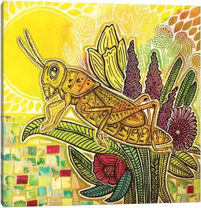 Grasshopper In The Garden Canvas Art Print