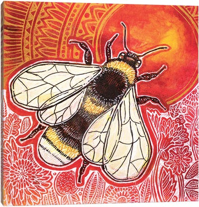 Just Bee Canvas Art Print