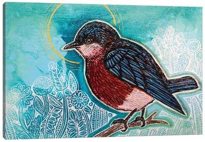 Blue Skies For A Blue Bird Canvas Art Print