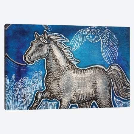 Blue Skies For A Silver Horse Canvas Print #LSH375} by Lynnette Shelley Canvas Artwork
