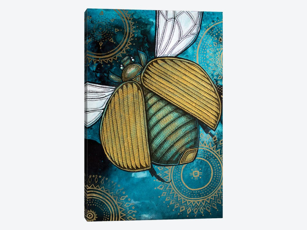 Gold Scarab by Lynnette Shelley 1-piece Canvas Print