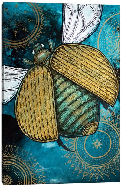 Gold Scarab Canvas Art Print