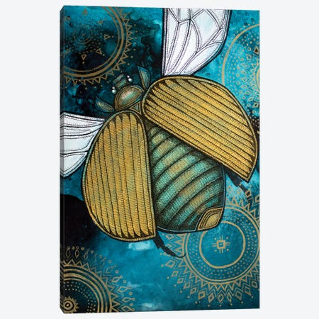 Gold Scarab 3-Piece Canvas #LSH37} by Lynnette Shelley Canvas Art Print