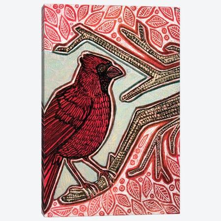 Northern Cardinal Canvas Print #LSH386} by Lynnette Shelley Art Print