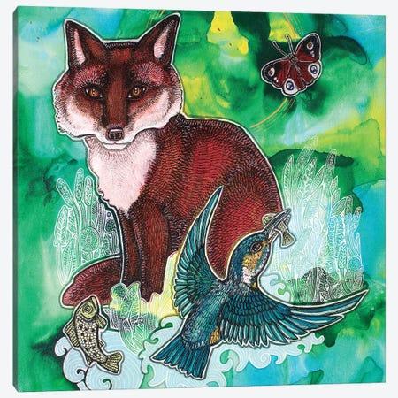 Spring Green Idyll Canvas Print #LSH390} by Lynnette Shelley Art Print