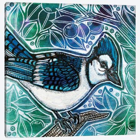 A Little Blue Canvas Print #LSH394} by Lynnette Shelley Canvas Art