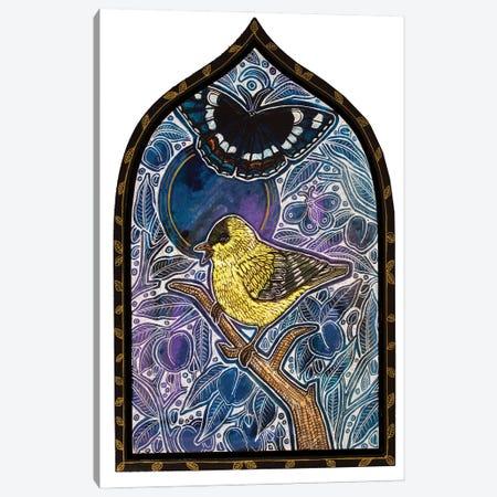 Yellow Bird Sings The Blues Canvas Print #LSH395} by Lynnette Shelley Canvas Art
