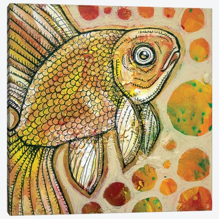 Goldfish Canvas Print #LSH39} by Lynnette Shelley Canvas Wall Art