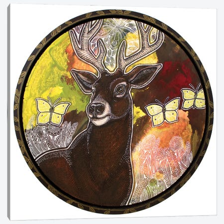 The Noble Stag Canvas Print #LSH411} by Lynnette Shelley Canvas Wall Art