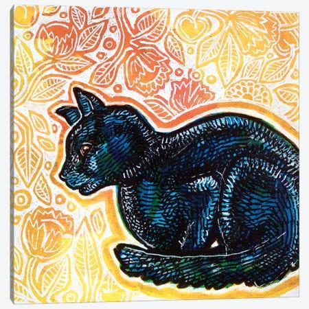 Waiting Cat Canvas Print #LSH412} by Lynnette Shelley Canvas Artwork