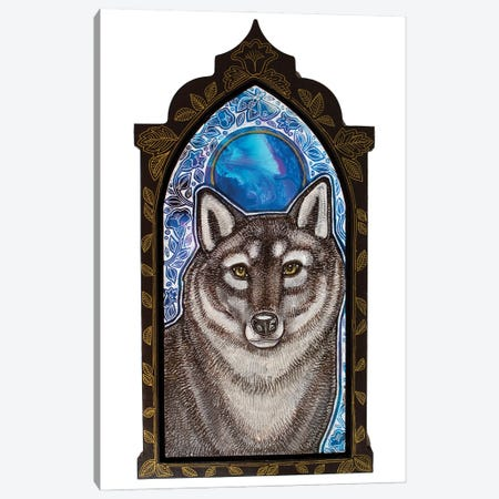 Wolf Moon Canvas Print #LSH413} by Lynnette Shelley Canvas Wall Art