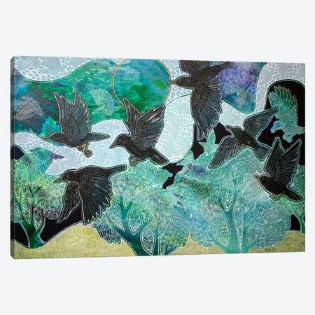 A Murmuration Of Memories Canvas Print #LSH425} by Lynnette Shelley Canvas Art