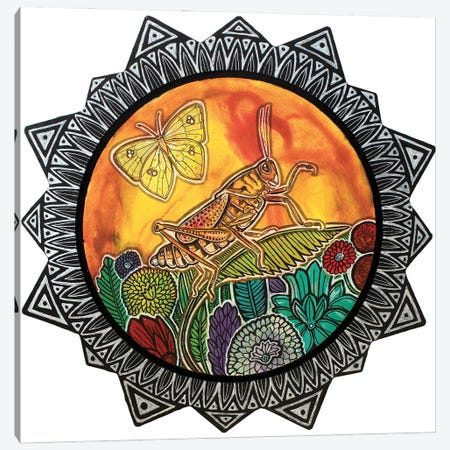 Grasshopper Song Canvas Print #LSH435} by Lynnette Shelley Canvas Art Print