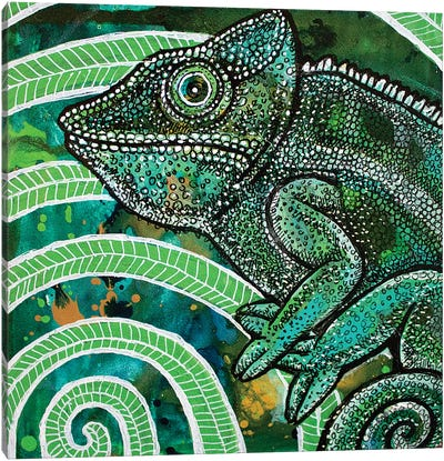Hidden Chameleon Canvas Art Print