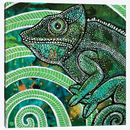 Hidden Chameleon Canvas Print #LSH45} by Lynnette Shelley Canvas Art