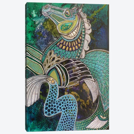 Hippokampos Canvas Print #LSH46} by Lynnette Shelley Canvas Artwork