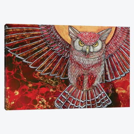 Hunter Owl Canvas Print #LSH48} by Lynnette Shelley Art Print