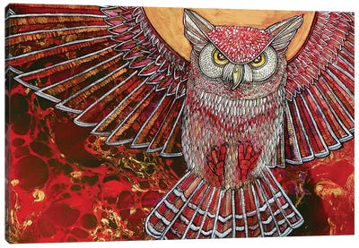 Hunter Owl Canvas Art Print