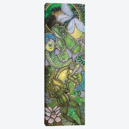 Leap Frog Canvas Print #LSH53} by Lynnette Shelley Canvas Wall Art
