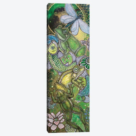 Leap Frog Canvas Print #LSH53} by Lynnette Shelley Canvas Wall Art