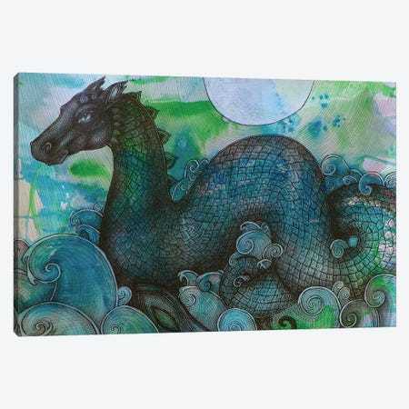 Loch Ness Monster Canvas Print #LSH55} by Lynnette Shelley Art Print