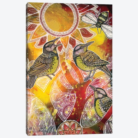 Meadowlark Summer Canvas Print #LSH57} by Lynnette Shelley Art Print