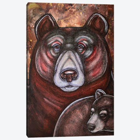 Mother Bear Canvas Print #LSH60} by Lynnette Shelley Canvas Print