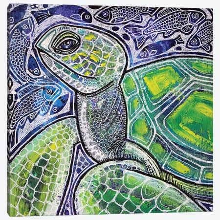 Ocean Voyager Canvas Print #LSH68} by Lynnette Shelley Art Print