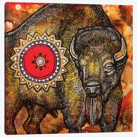 American Bison Canvas Print #LSH6} by Lynnette Shelley Canvas Art Print