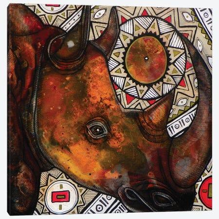 Remember The Rhino Canvas Print #LSH77} by Lynnette Shelley Canvas Print