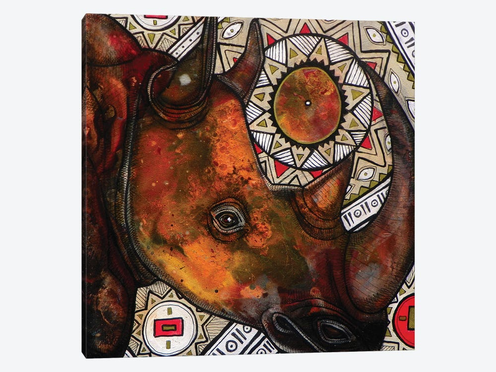 Remember The Rhino by Lynnette Shelley 1-piece Canvas Art Print